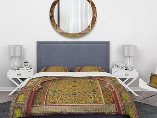 Designart  Moroccan Entrance Door in Fez  Vintage Bedding Set   Duvet Cover   Shams  Retail 133 49