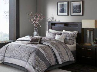 Multicolor Harmony Jacquard Comforter Set  Queen  7pc