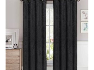 Bella luna Faux Suede Room Darkening Extra Wide 96 inch Grommet Curtain Panel Pair   108 x 96 in