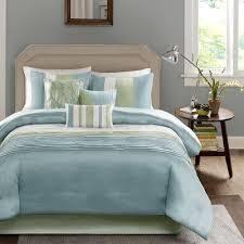 Madison Park Chester Green  Blue 7 piece Comforter Set  Retail 108 86