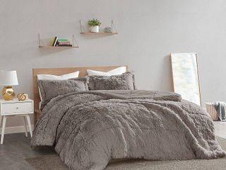 Intelligent Design leena Shaggy Faux Fur Comforter Set  Retail 104 98