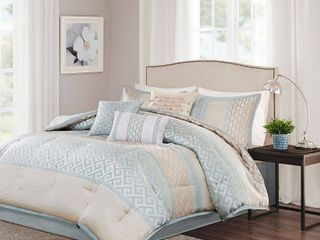 Madison Park Chandler 7 Piece Comforter Set  Retail 109 99