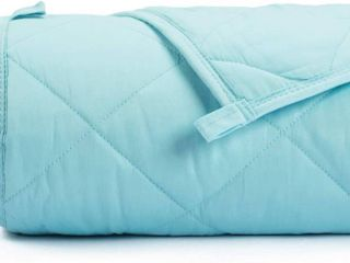 SimpleBeing Diamond Shaped Quilted Weighted Blanket  Blue