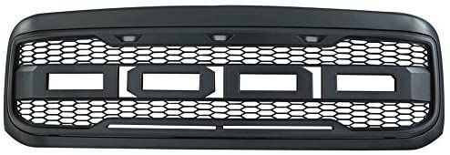Aftermarket Grille for 99 04 Ford F250 F350 Metallic Charcoal Gray ABS New Raptor Style