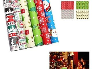 6 Roll Set of Gift Wrapping Paper