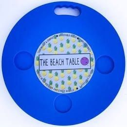 The Beach Patio Table  Blue 18in