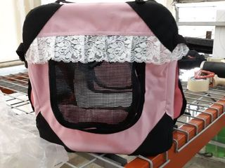 Pink luxury Travel Pet Bag With Casters