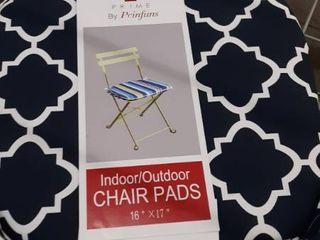 2 Piece Indoor Outdoor 16 x17  Chair Pads