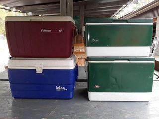 4 Coolers  3 Colman 1 Igloo
