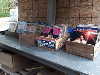 large Assortment Of Records  Rock N Roll