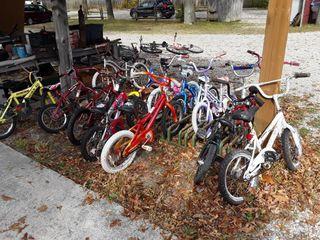 14 Kids Bikes   Bike Rack Not Included