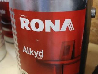 1 GAllON CAN OF RONA AlKYD PAINT BlACK