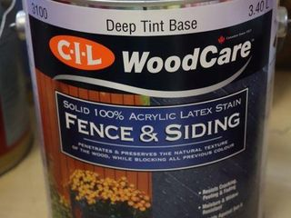 1 GAllON CANOF CIl FENCE AND SIDING STAIN