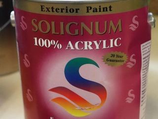 1 GAllON CAN OF SOlIGNUM PAINT BROWN