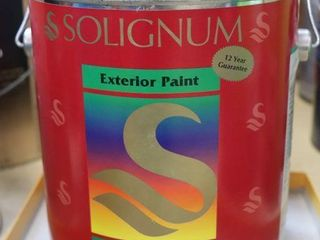 1 GAllON CAN OF SOlIGNUM PAINT GREEN