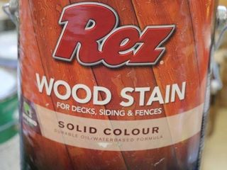 1 GAllON CAN OF REZ WOOD STAIN BROWN