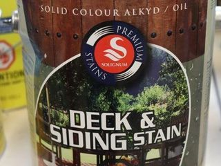 1 GAllON CAN OF SOlIGNUM DECK STAIN GREY MISS TINT