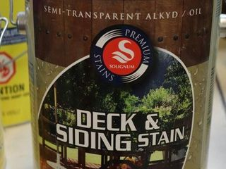 1 GAllON CAN OS SOlIGNUM DECK STAIN GREEN MISS
