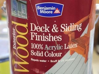 1 GAllON CAN OF BENJAMIN MOORE DECK STAIN BROWN
