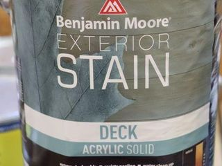 1 GAllON CAN OF BENJAMIN MOORE EXTERIOR STAIN BlUE