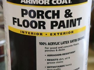 1 GAllON CAN OF ARMOUR COAT FlOOR AND PORCH PAINT