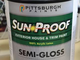1 GAllON CAN OF SUN PROOF EXTERIOR PAINT BROWN