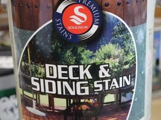 1 GAllON CAN OF SOlIGNUM DECK AND SIDING STAIN
