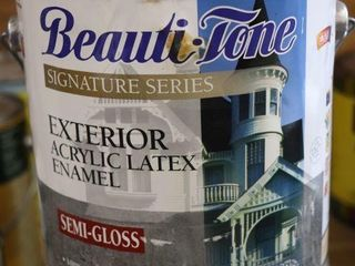 1 GAllON CAN OF BEAUTY TONE EXTERIOR PAINT WHITE