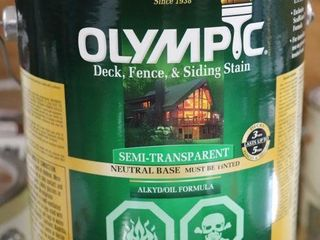1 GAllON OF OlYMPIC DECK STAIN GINGER