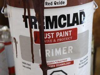 1 GAllON OF TREMClAD RED PAINT 3 4 FUll