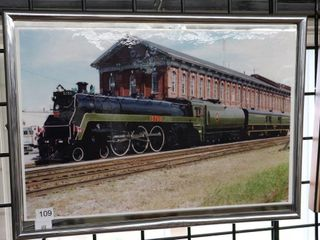 FRAMED CANADIAN PACIFIC TRAIN PHOTO 17 X12