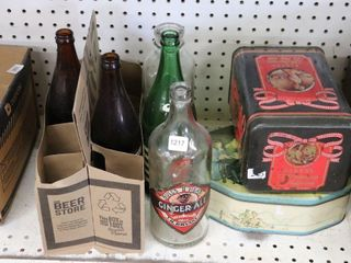 GROUP OF POP BOTTlES AND TINS