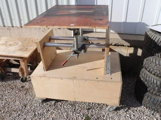 SHOP SMITH STAND WITH CART