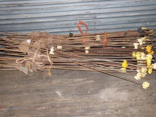 GROUP OF ElECTRIC FENCE POSTS