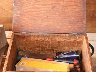 WOODEN BOX OF ASSORTED FIlES