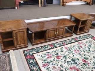 3 PC COFFEE AND END TABlE SET