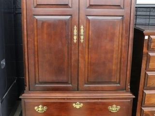 SOlID WOOD ENTERTAINMENT CABINET 42 X22 X78