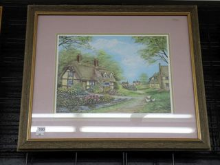 MARY FARKAS  ENGlISH VIllAGE  SIGNED NUMBERED