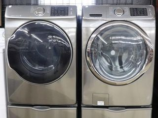 SAMSUNG FRONT lOAD WASHER   DRYER WITH STANDS