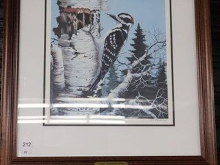 VIC GIBBONS   HAIRY WOODPECKER  NUMBRED SIGNED