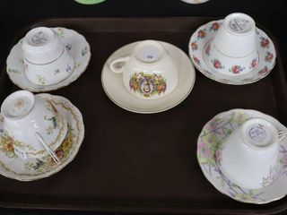 5 ASSORTED CUPS AND SAUCERS