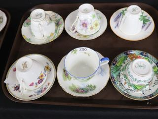 6 ASSORTED CUPS AND SAUCERS
