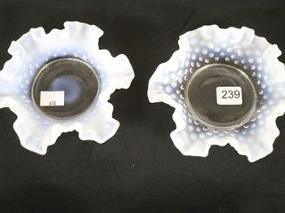 2 FlUTED HOBNAIl DISHES
