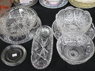 COllECTOR PlATES  CUT GlASS DISHES ETC