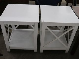PAIR OF MODERN END TABlES 20 X20 X25