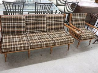 MAPlE FRAMED COUCH AND CHAIR