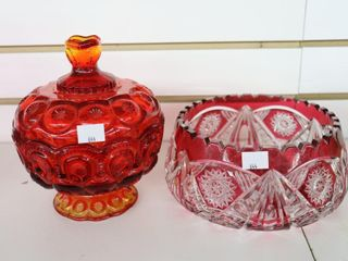 CRANBERRY BOWl AND COVERED DISH