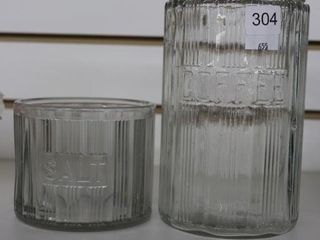 SAlT AND COFFEE GlASS DISHES