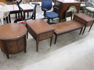4 PC KROEHlER COFFEE AND END TABlE SET