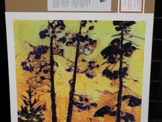 TOM THOMSON  PINE TREES AT SUNSET  NUMBERED PRINT